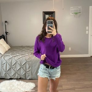 Halogen Purple Crewneck Sweater